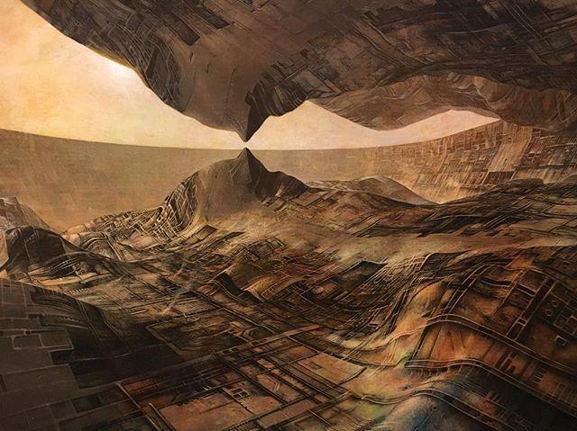 'Artifact III' Peter Gric (b. 1968) @christopherpalbickiartist #artwork #art #paintings #painting #surreal #surrealism #visionaryart #happytuesday ❤😃☀🌎🎨❤