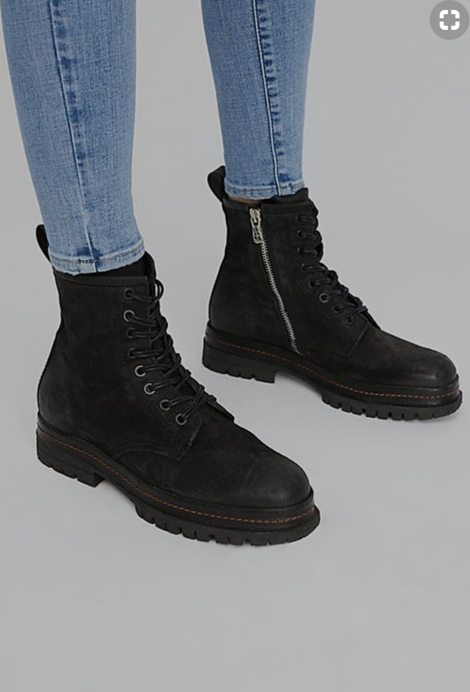 I've always loved a kickass pair of biker boots. I love the sole on these.