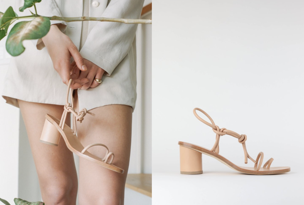 Long-time love for Loq's simple yet beautifully architectural heel, so of course I love this leather strappy number.