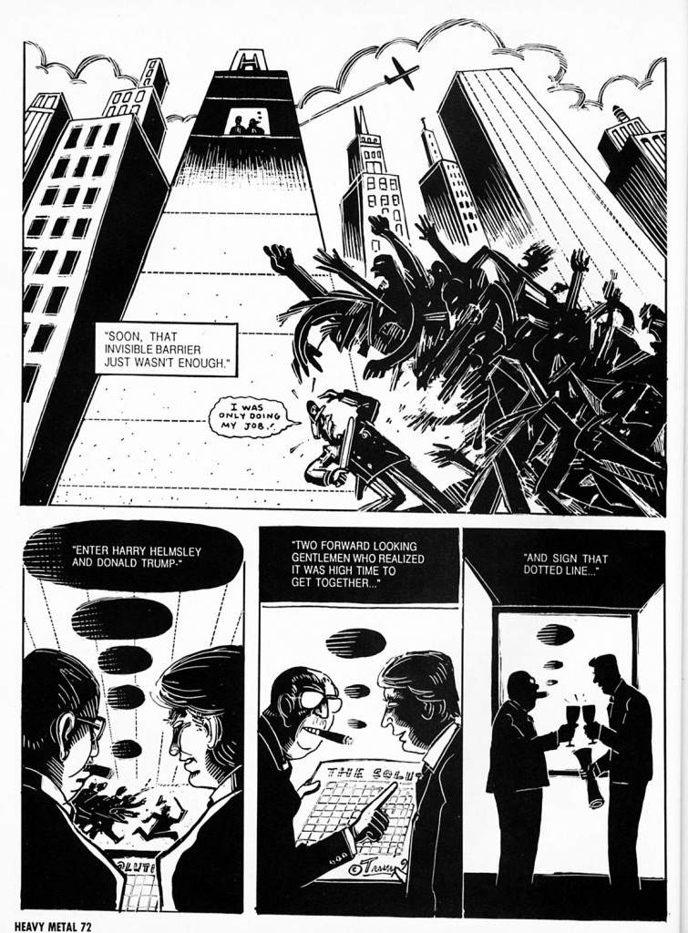 """""""The Wall"""" by Peter Kuper in Heavy Metal magazine"""