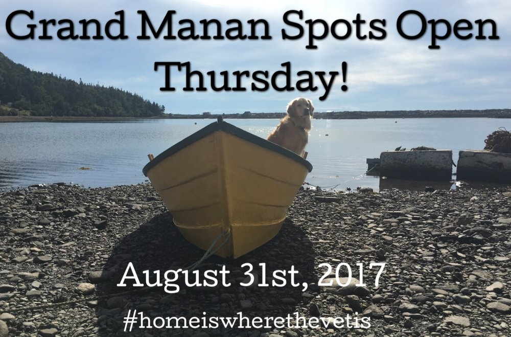 One of our monthly Grand Manan reminder announcements!