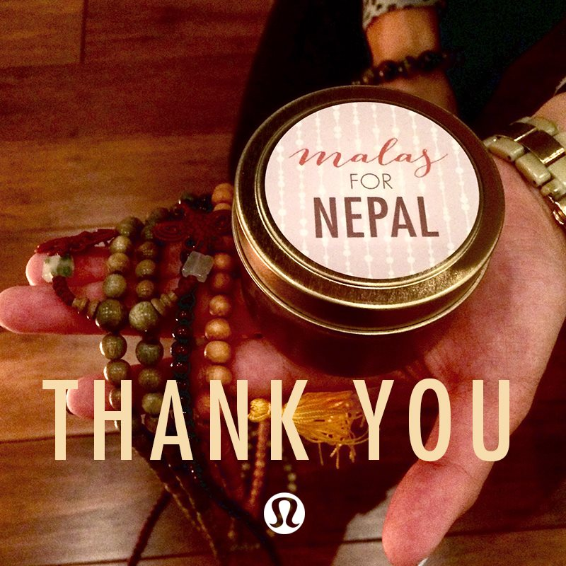 Malas for Nepal: lululemon fundraiser event in partnership with Rebecca Rogers