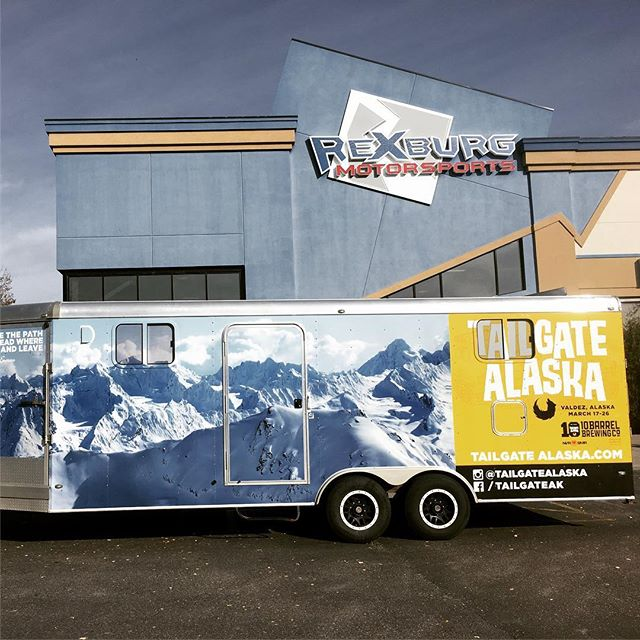 Next tour stop at #rexburgmotorsports tonight 6-9. #tailgatealaska #tailgate10 #10barrelbrewing #keepersofthereal #neversummersnowboards