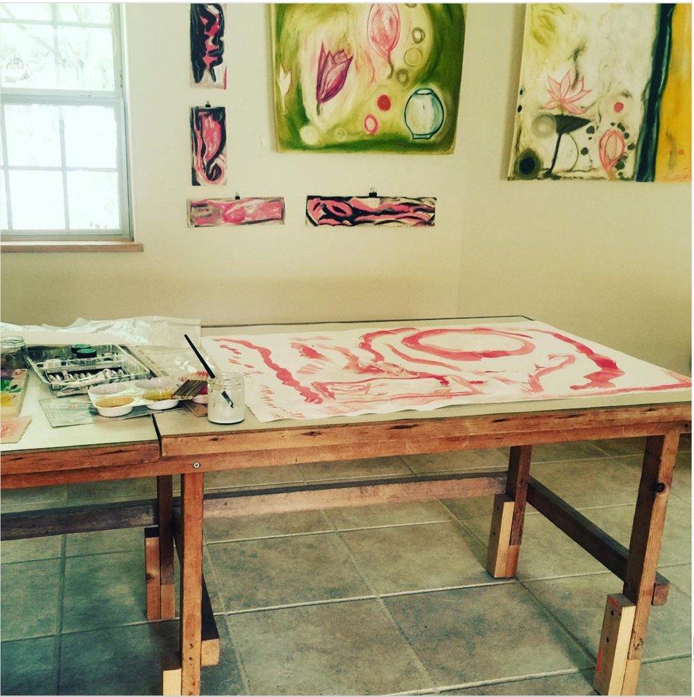 Sherri Silverman's Santa Fe studio, 2014.