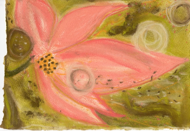"Lotus Flow. Sherri Silverman. Pastels and pencil on paper. 2011. 8.25"" x 11.5"". Private collection, Califon, NJ."