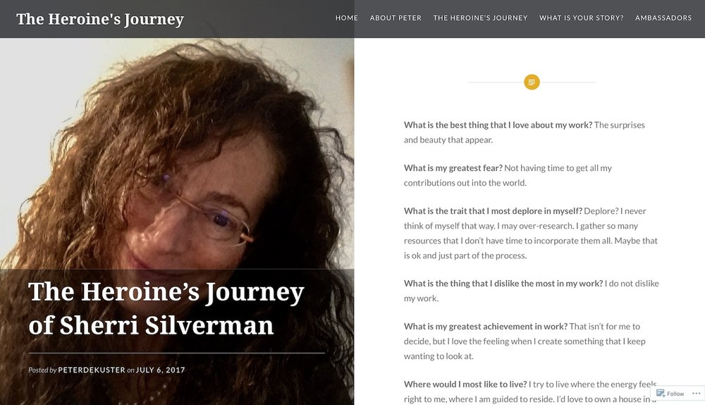 heroine journey creative artist interview sherri silverman blog