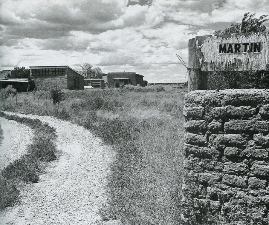 Entrance to Agnes Martin's former studio and home in Galisteo, NM. Photo, © Mary Ellen Mark. Used with permission from Mary Ellen Mark Library/Studio.