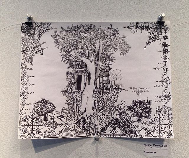 Ti Kay DonDon - Little House in DonDon     Drawing by Amanacer (2016) at Affirmation Gallery