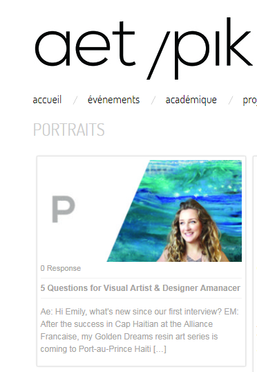 5 Questions from AETYPIK - For AMANACER (Emily Bauman)