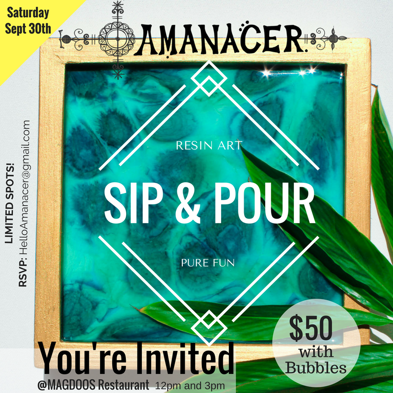 Sip & Pour Event Haiti Resin Art By Amanacer