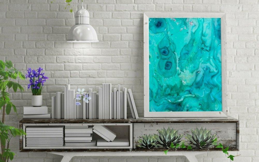 Amanacer Art Resin Design in Home Boho Luxe