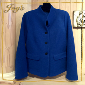 Geiger | Blue Jacket | $549 This gorgeous women's jacket regulates body temperature perfectly due to the tiny air chambers that are created when the wool is subjected to heat and then shrunk, producing boiled wool. A comfortably warm, elegantly styled sweater - made 100% in Austria.