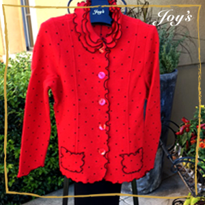 Charming Red Boiled Wood Fall Jacket