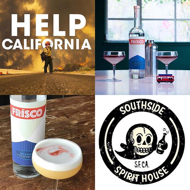 Be thankful for what you've got! Our friends at Southside Spirit House are donating 50% of all funds raised through our San Francisco Sour cocktail to support those impacted by Northern California Fires. Come catch up with friends for a tasty cocktail and spread the love. @southsidesf #sanfrancisco #campfire #cocktails #wednesday #drinks #sour #charity #california #californiafires #californiaknowshowtogive