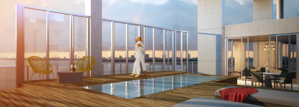 Sky Terrace Biscayne Beach Penthouse