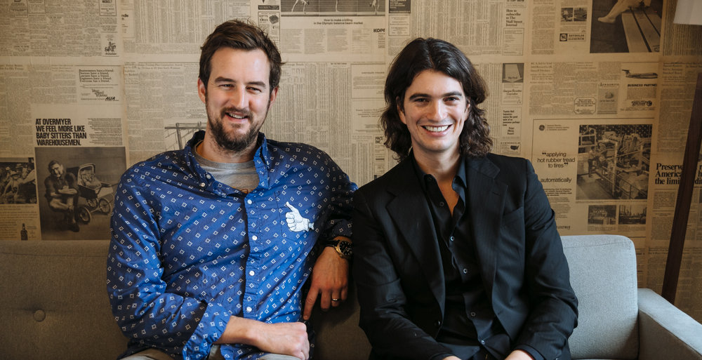 Adam Neumann and Miguel McKelvey
