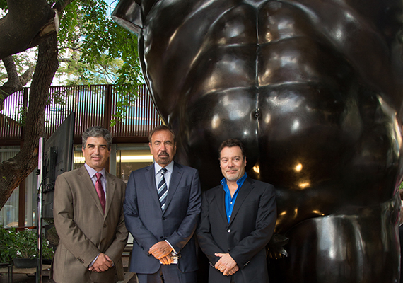 Carlos Rosso, Jorge Pérez and Juan Carlos Botero. Photo via TheRealDeal