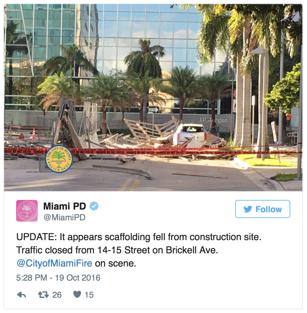 Echo Brickell Scaffolding Collapse