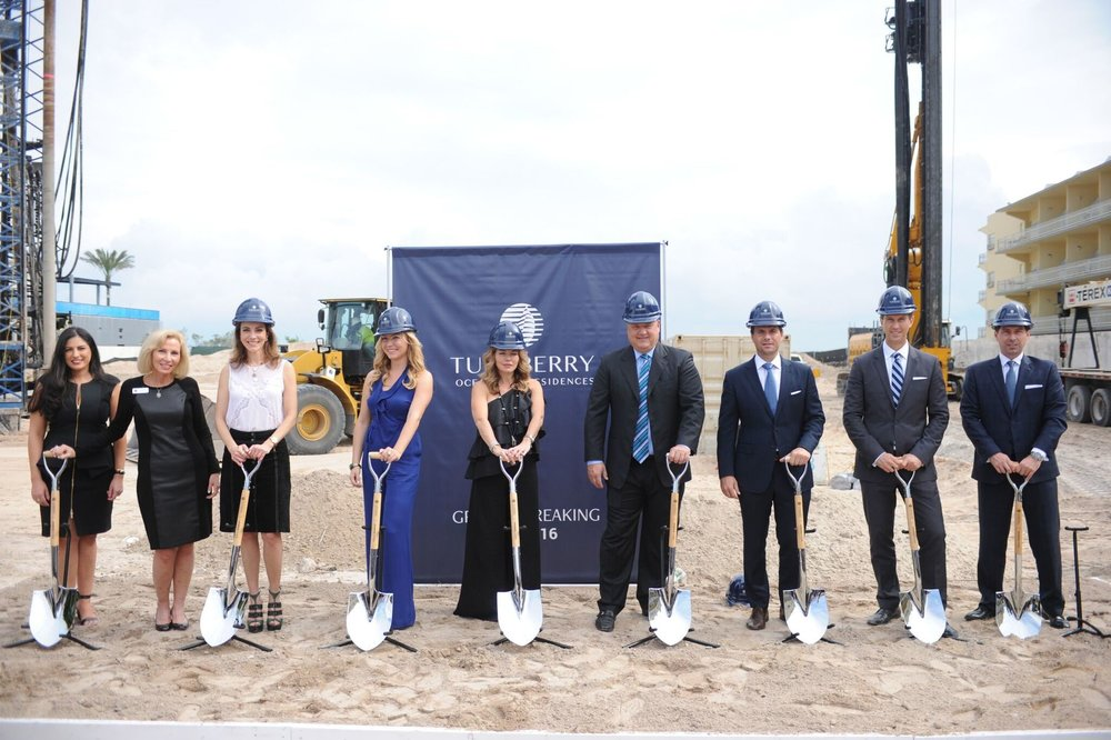Groundbreaking Ceremony, Turnberry Associates | Photo via World Red Eye