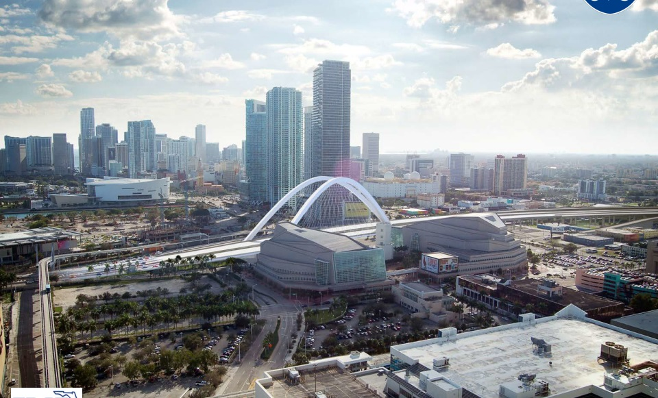 "Future ""Signature Bridge"" at Downtown Miami's Omni Neighborhood"