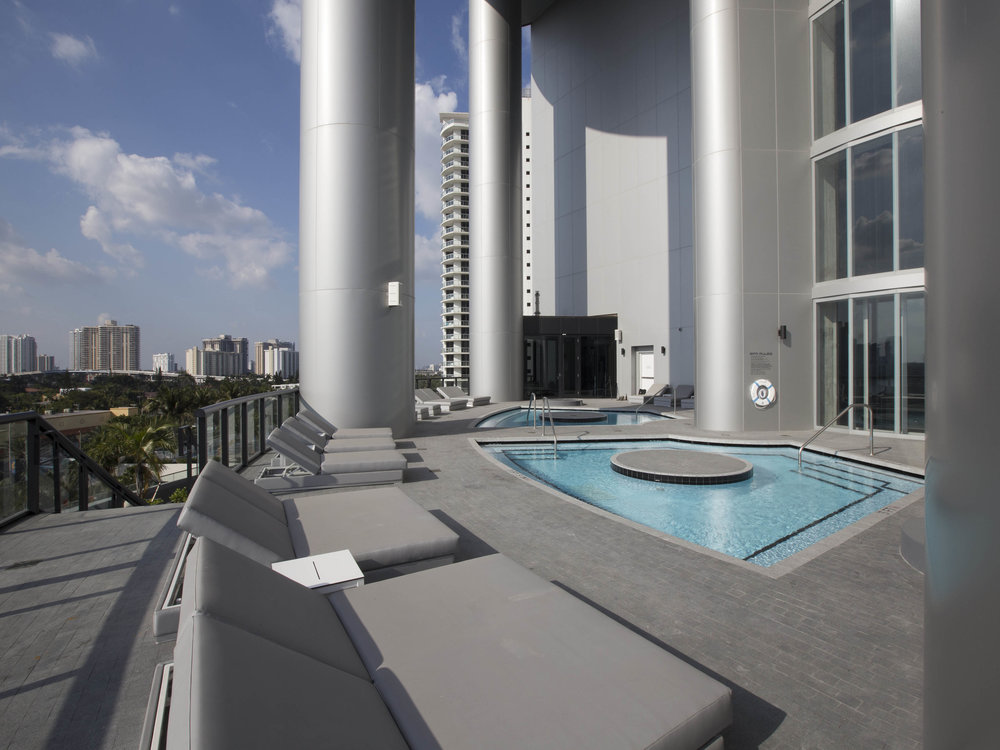Tour the NEW First-of-Its-Kind Porsche Design Tower Miami from Dezer Development and Porsche Design in Sunny Isles Beach Sunset Deck