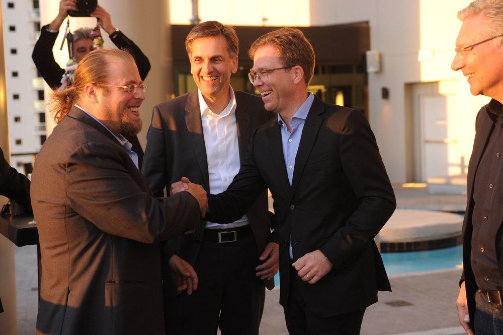 Gil Dezer Jan Becker Dezer Development and Porsche Design Celebrate Grand Opening of Porsche Design Tower Miami in Style