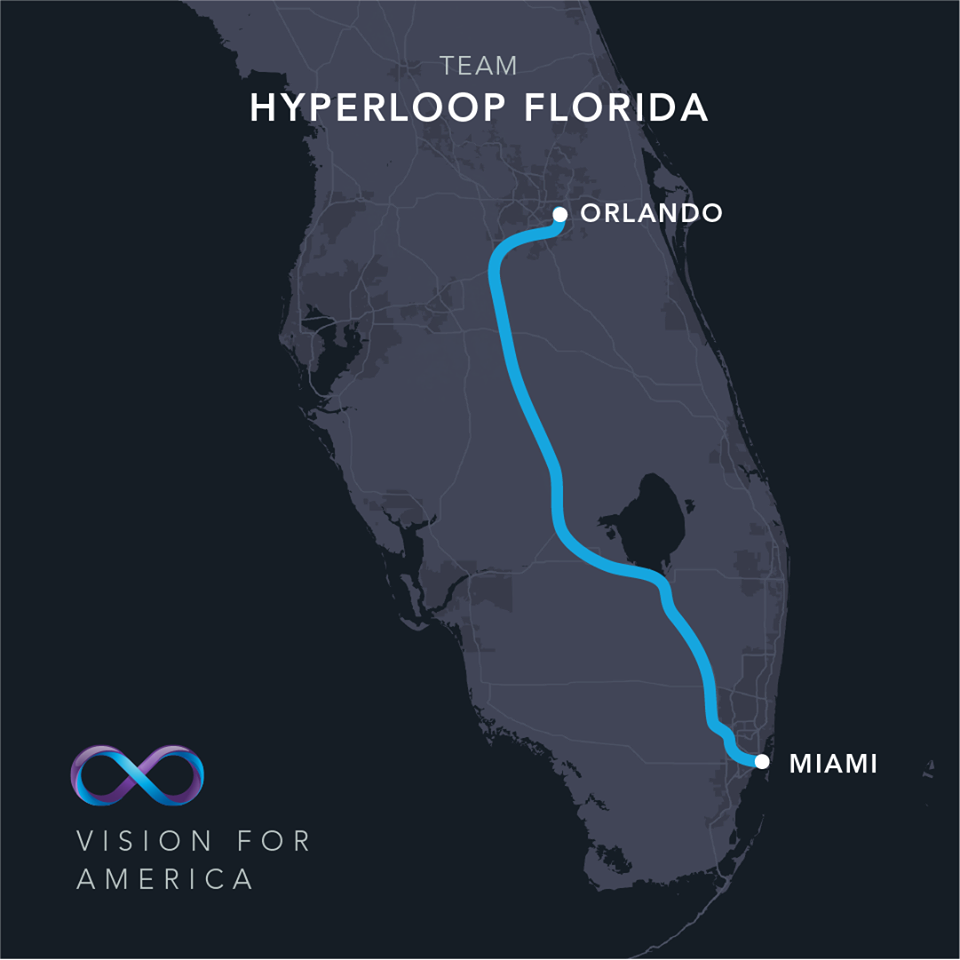 Hyperloop One Announces Hyperloop Florida Connecting Miami to Orlando in 26 Minutes