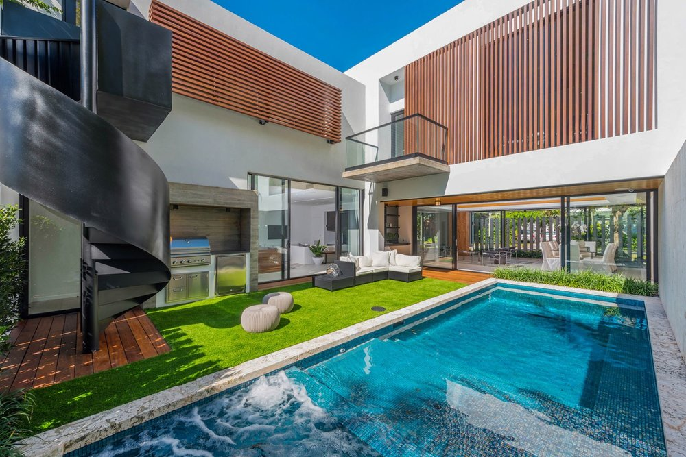 Tour The Tropical Modern Coconut Grove Home Listed for $3.185 Million 4214 Anne Court