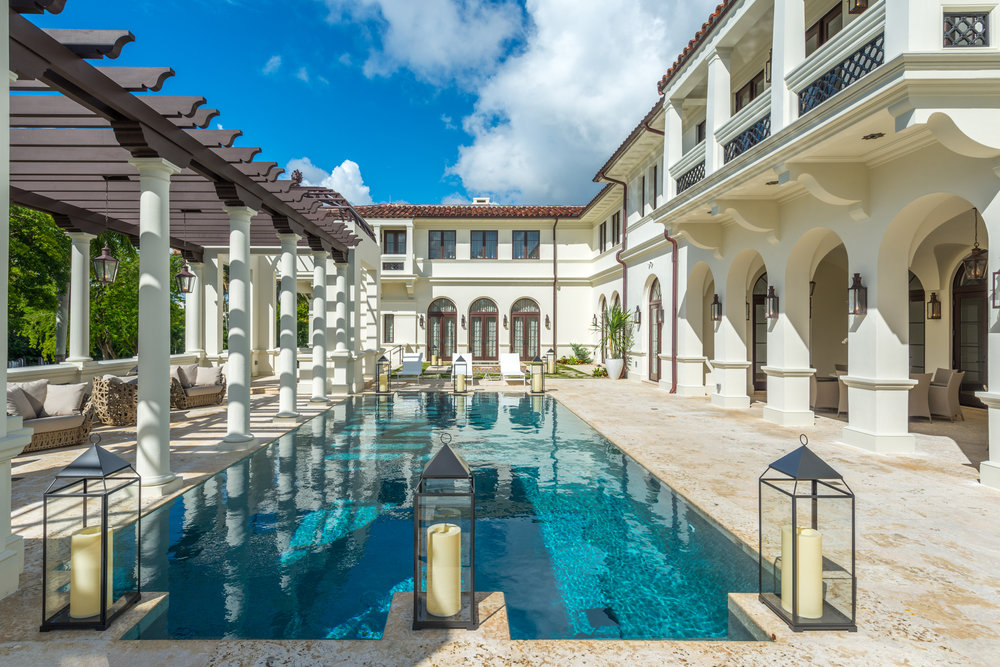 Casa Costanera @ 300 Costanera Road, Coral Gables. Listed by Barbara Estela and Hilda Jacobson of Douglas Elliman for $27.26 Million.  Tour the stunning estate here .