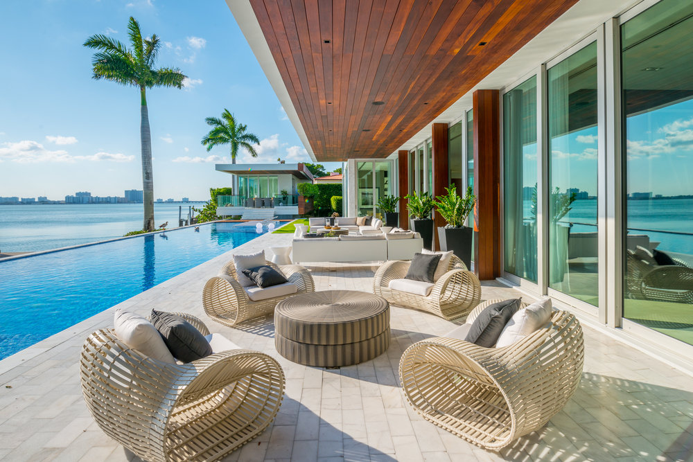 5446 North Bay Road, Miami Beach. Listed by Brett Harris of Douglas Elliman for $29 Million.