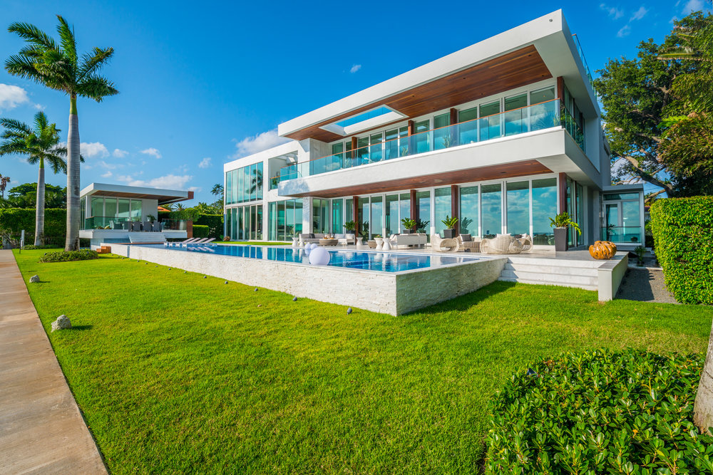 5446 North Bay Road, Miami Beach. Listed for $29 Million by Brett Harris of Douglas Elliman.