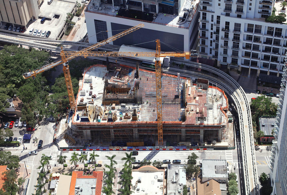 May 2, 2017 Construction Update: Brickell Flatiron Passes 6th Level, On Track for Top-Off in Late 2018