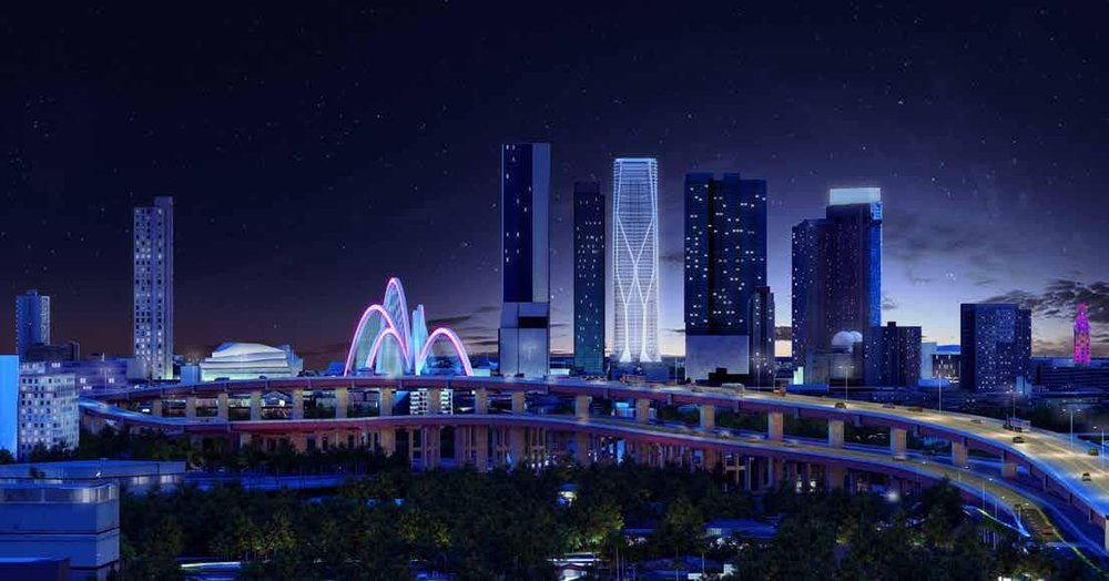 "$800 Million ""The Fountain"" Chosen as Winning Design for Signature Bridge"