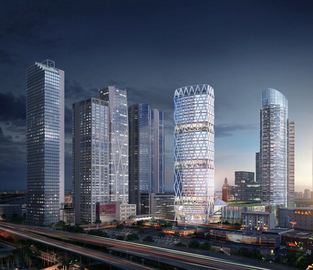 Futuristic Office Tower Coming to Miami Worldcenter Ready to Break Ground Hines