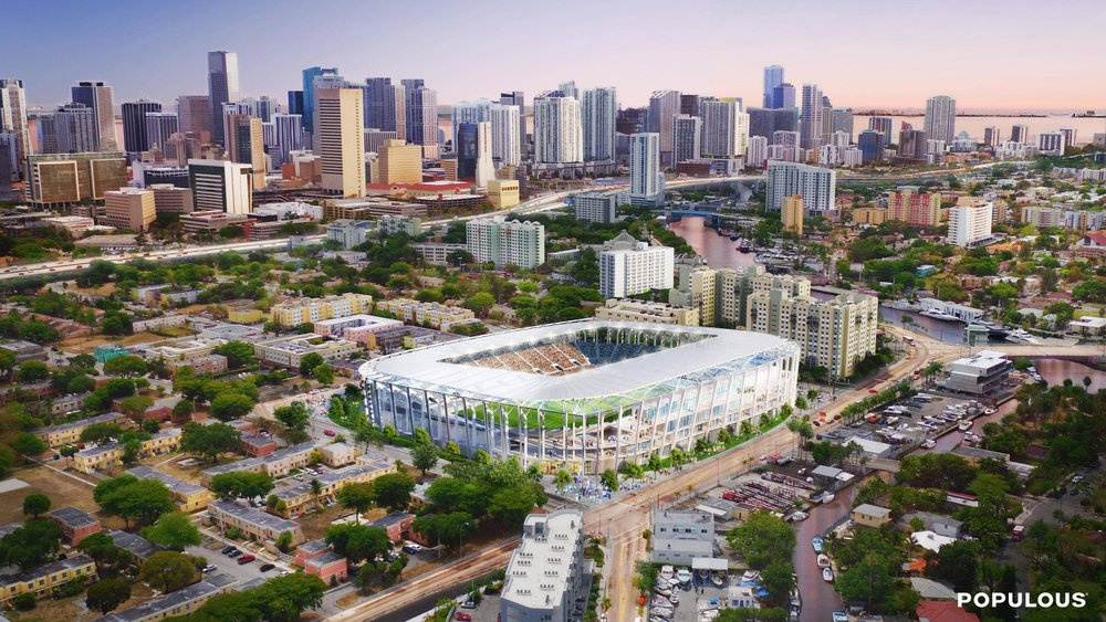 New Details Released on 25,000-Seat Soccer Stadium by Miami Beckham United David Beckhman Overtown