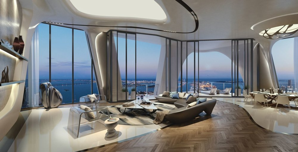 Tour The Full-Floor Residence Located on the 52nd Floor of Zaha Hadid's One Thousand Museum Asking $20.7 Million