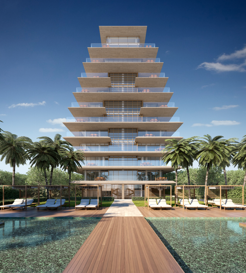 Arte, The First Antonio Citterio Designed Building in the United States, Unveiled in Surfside