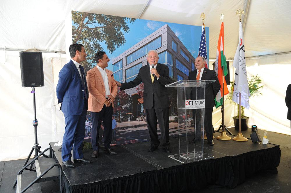 Francisco Suarez, Ricardo Tabet, Mayor Tomas Regalado & Wilfredo Gort