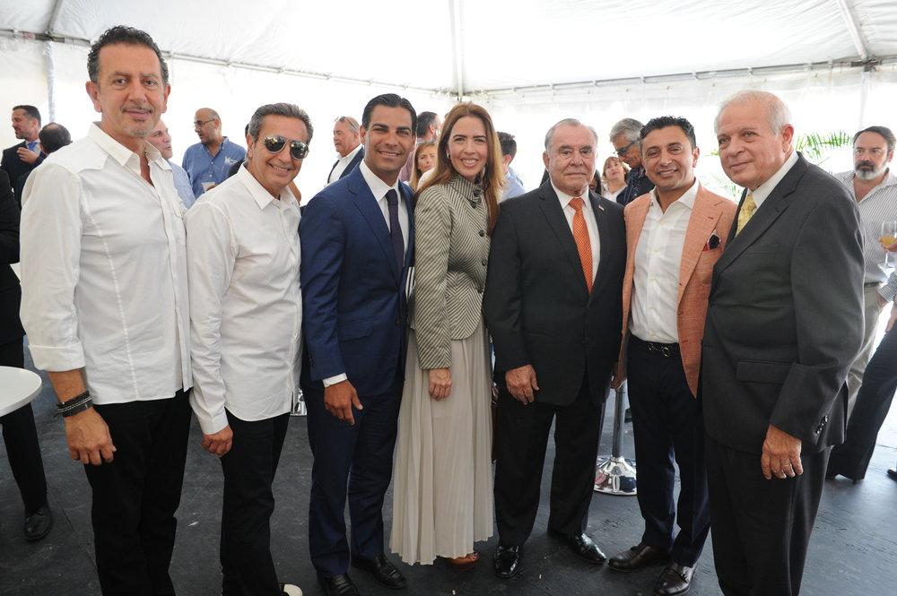 Charles Khabouth, Danny Soberano, Francisco Suarez, Raquel Regalado, Wilfredo Gort, Ricardo Tabet, & Mayor Tomas Regalado
