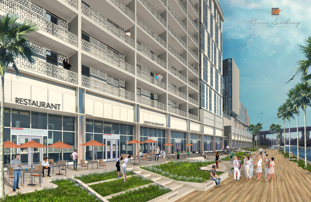 Construction on Mixed-Use River Landing Shops and Residences To Begin By End-Of-Year