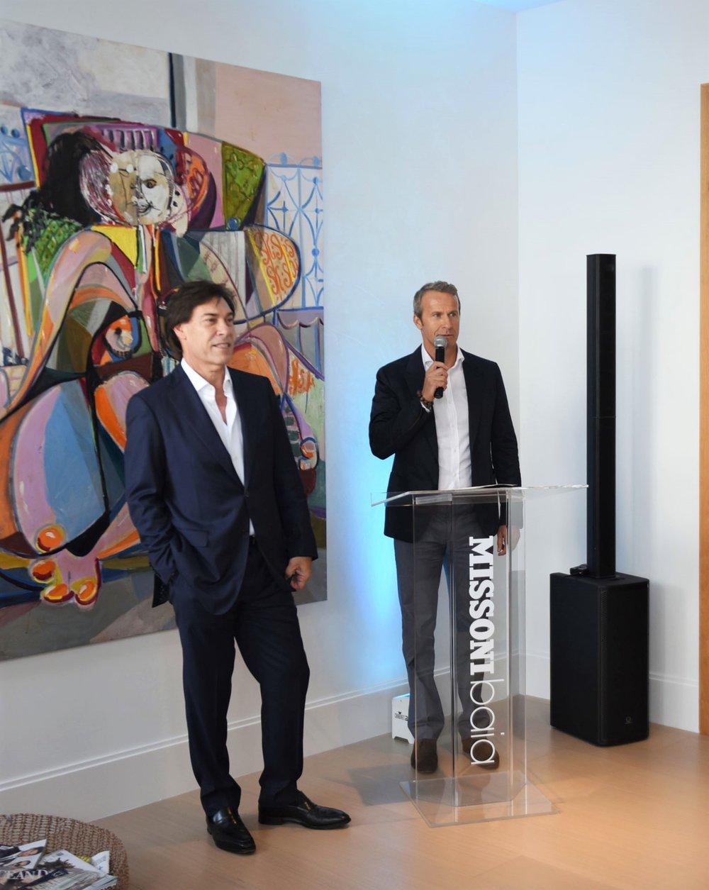 Edgardo Defortuna & Vladislav Doronin (L to R)