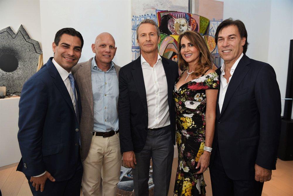Francis Suarez, Fran Scola, Vladislav Doronin, Ana Cristina Defortuna & Edgardo Defortuna (L to R)