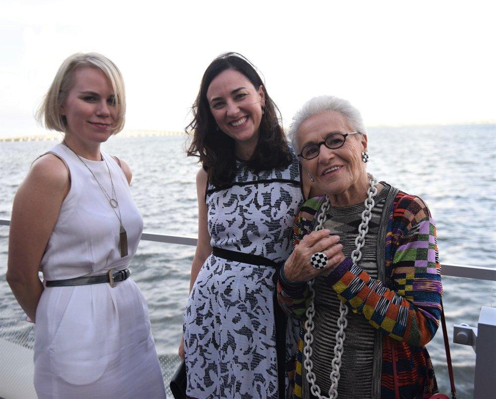 Annelis Taft, Paris Forino & Rosita Missoni (L to R)