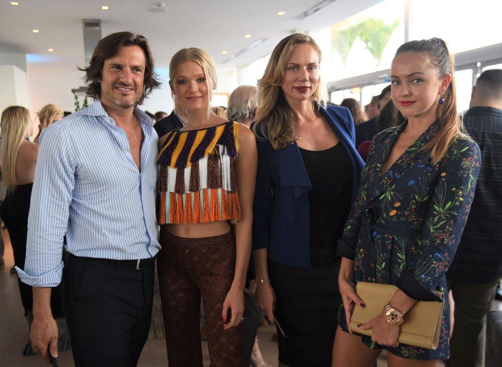 Valerio Morabito, Vita Morabito, Lana Yakoby & Irina Artemova (L to R)