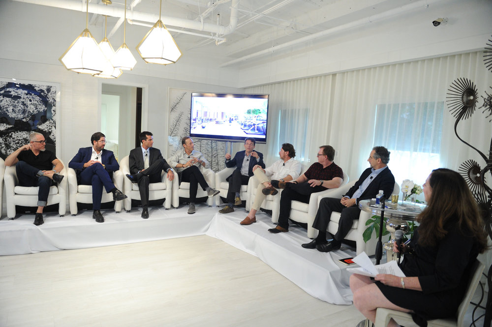 Carlos Rosso, Michael Schwartz, David Martin, Chris Dekker, Michael Comras, Robert Lloyd, Mauricio Fernelli, H.H. Bredemeier, & Carlos Prio-Touzet, Park Grove Hosts Panel Discussion On The Future of Coconut Grove With Terra and Related Group