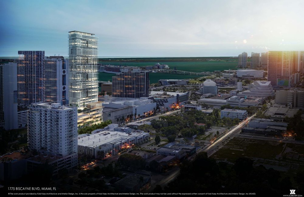 53-Story Kobi Karp-Designed Hotel & Residences Proposed In Edgewater's Biscayne Corridor
