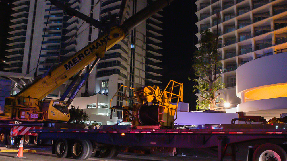 Jade Signature Installs Towering, 65,000 LBS Kapok Tree Kicking Off The Tower's Countdown To Completion