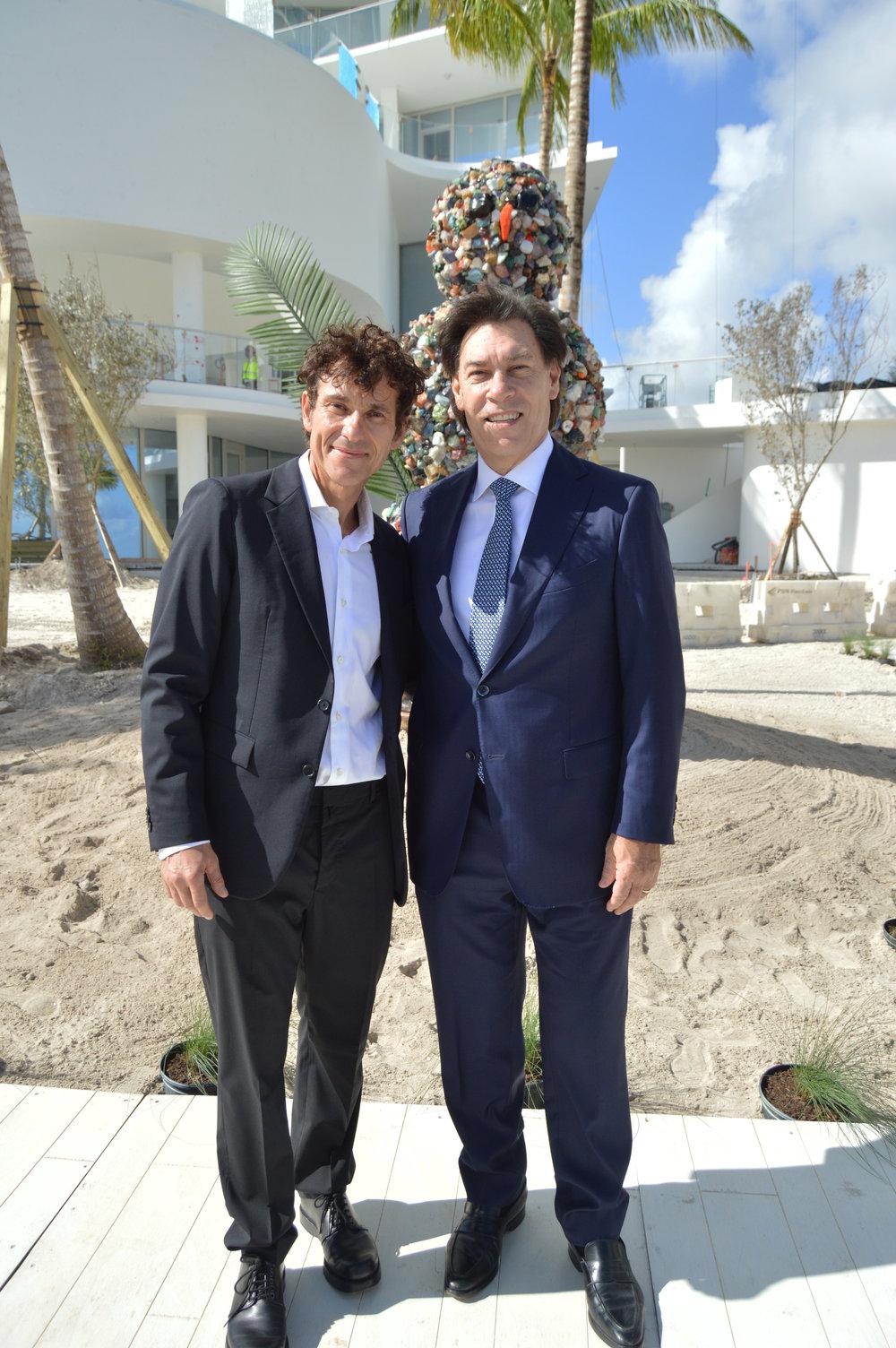 Artist Daniel Knorr with Jade Signature Developer Edgardo Defortuna