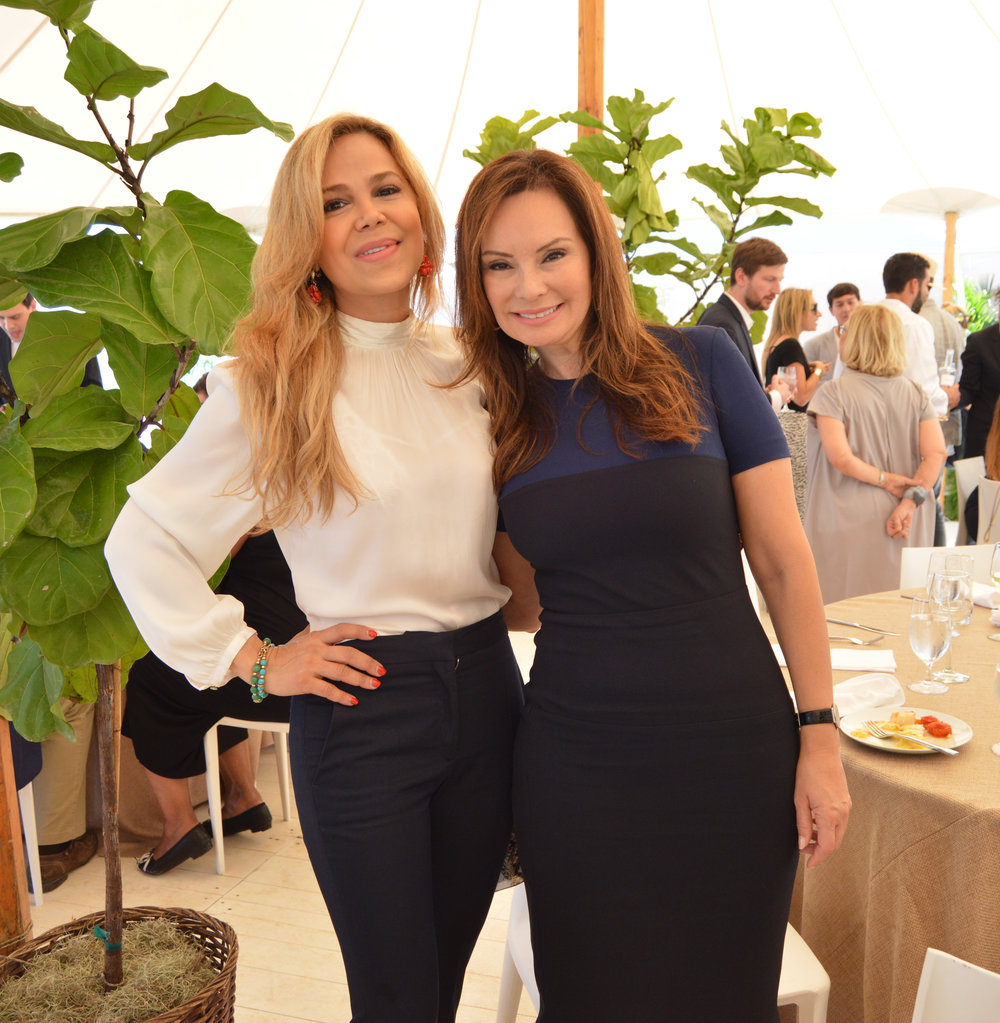 Esther Porto and Rosie Rios, Former U.S. Treasurer