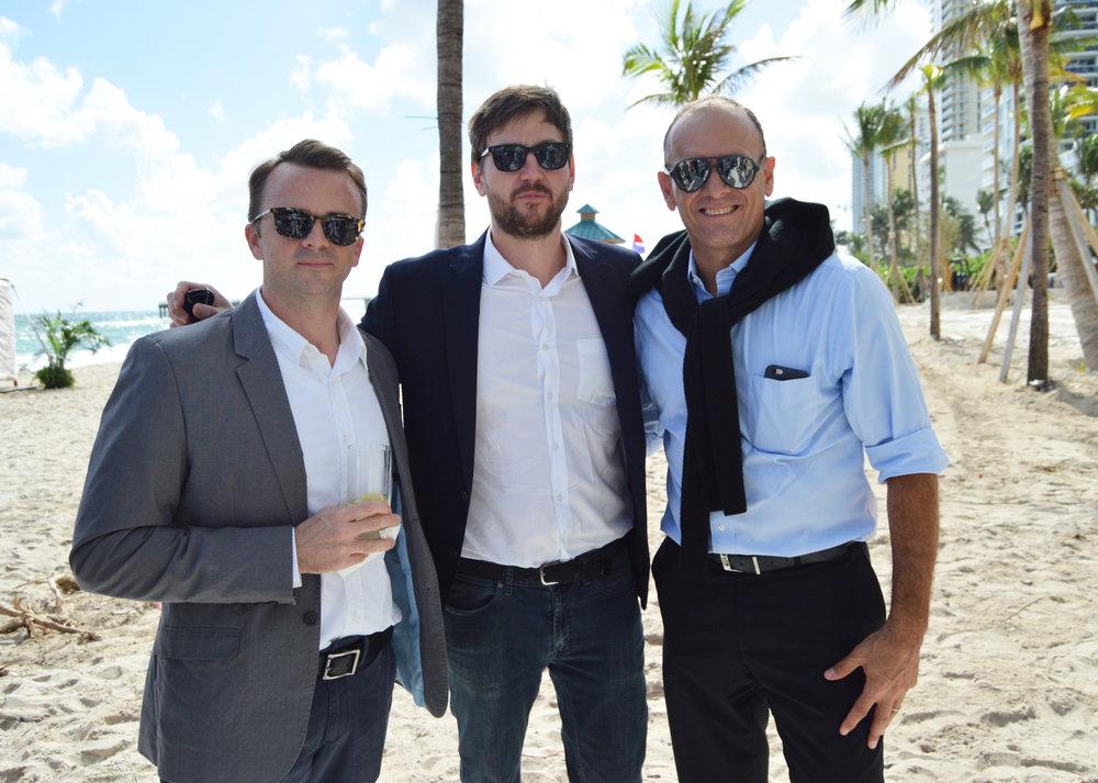 Ryan Cole and Jason Frantzen of Herzog & de Meuron along with Sebastian Salvat, VP of Development for Fortune International Group